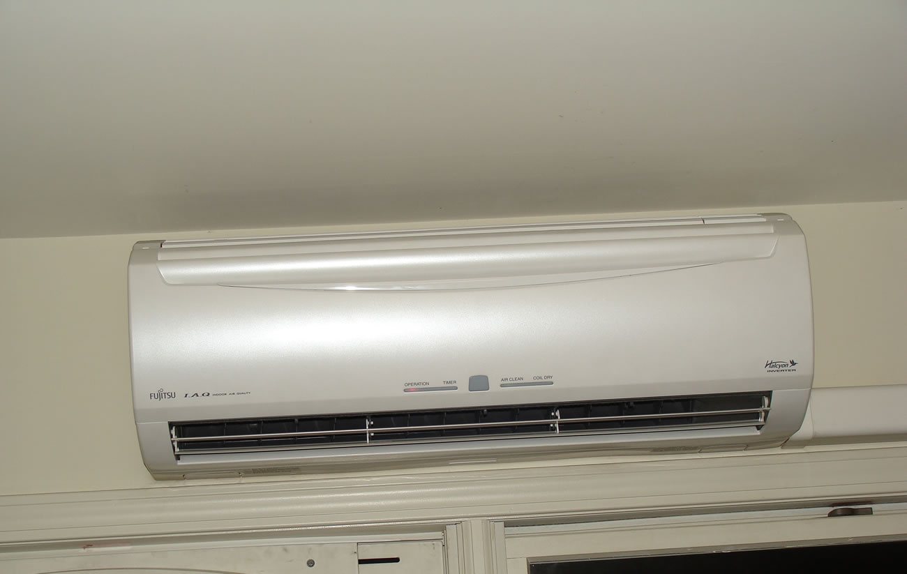 air conditioning (heat pump) units connect to eight indoor units #655F4D