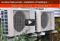 Actual HVAC installation of ductless mini split air conditioning / heat pump