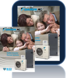 Daikin central AC inverter heat pump