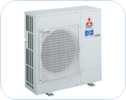 Mr. Slim ductless PK series outdoor unit