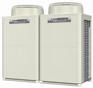 Mitsubishi City Multi VRFZ twin outdoor units